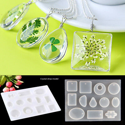 DIY Silicone Mold Pendant Making Jewelry Resin Casting Mould Gem Crafts Tool UK