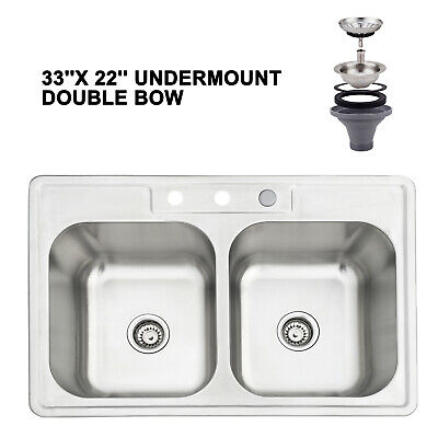 Commercial Kitchen Sink Heavy Duty Stainless Steel Hand Wash Washing Wall Mount