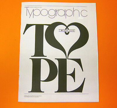 TYPOGRAPHIC TYPE Vol. 15 No. 3 1983 Soft Cover Graphic Composition David Brier