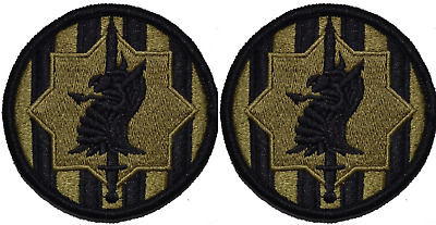 2 Pack US Army 89th MP Brigade OCP Scorpion Hook Back Military Patches