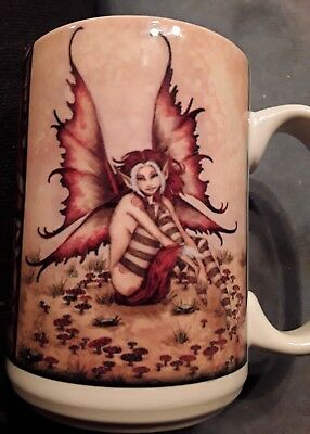 "Amy Brown Fairy Land of Myth Mug Autumn Redhead Cuppa.    4 1/2"" High Very Good"