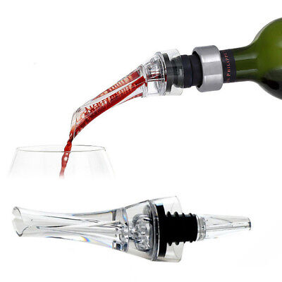 Portable Acrylic Red Wine Aerator Quick Aerating Whiskey Decanter Bottle Stopper
