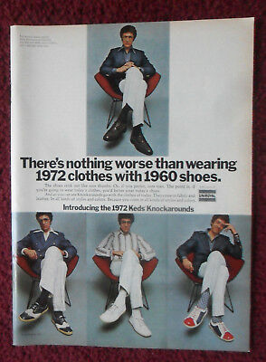 1972 Print Ad Uniroyal Keds Knockarounds Tennis Shoes Sneakers ~ Nothing Worse