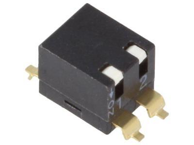 2x EPMR-02-V Switch DIP-SWITCH Poles number2 ON-OFF 0.025A/24VDC  DIPTRONICS
