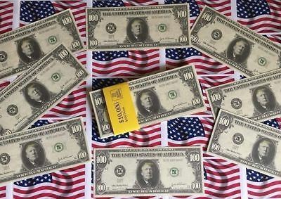 5 x  DONALD TRUMP NOVELTY $100 DOLLAR BILLS. Collectible/Money/Fake/USA/American
