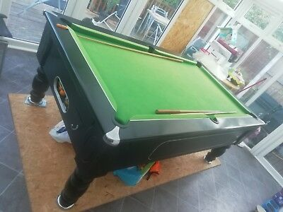 FULL SIZE SLATE Pool Table With Set Of Balls PicClick UK - How heavy is a slate pool table