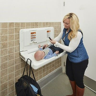 COMMERCIAL WALL MOUNT Baby Changing Table Station Diaper Change - Commercial bathroom baby changing table
