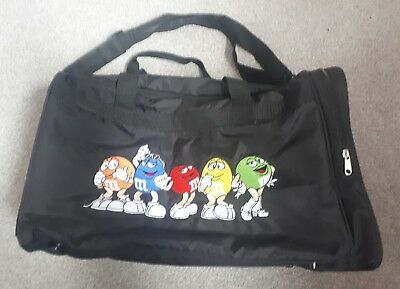M&Ms World Duffle Bag Sports Gym Travel Bags Duffel Holdall Black Collectable!!!