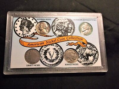 American Nickel Coin Collection Jefferson, Wartime,  Liberty,  Buffalo