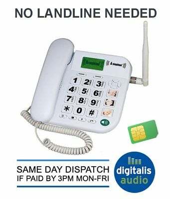Steepletone SGSM1 Contract Free GSM Landline Telephone Ideal for Care Homes