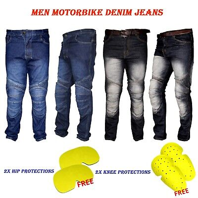 Men's Motorbike Motorcycle Racing Denim Jean with Extra Protectors Denim Trouser
