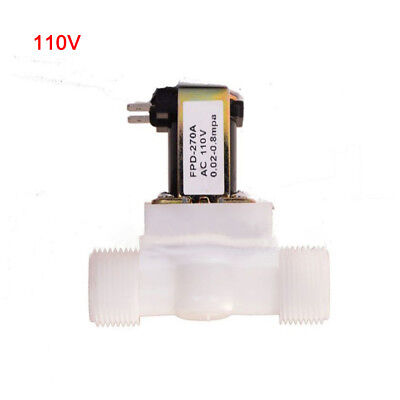 Water Solenoid Valve Electric Magnetic 110V N/C Air Inlet Flow Switch 1/2In Hot