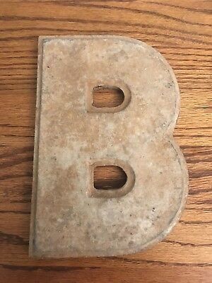 Vintage Marquee Theater Letter B Wagner Sign Service 8 Inch Antique B1