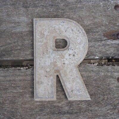Vintage Marquee Theater Letter R Wagner Sign Service 8 Inch Antique R1