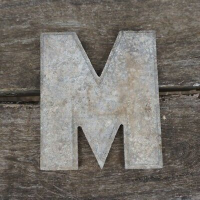 Vintage Marquee Theater Letter M Wagner Sign Service 8 Inch Antique M2