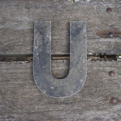 Vintage Marquee Theater Letter U Wagner Sign Service 8 Inch Antique U1