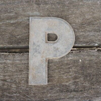 Vintage Marquee Theater Letter P Wagner Sign Service 8 Inch Antique P1