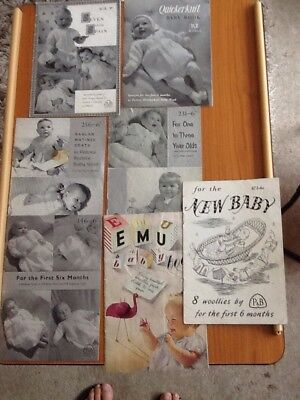 7 Vintage Knitting Patterns For Baby Clothes 130 Picclick Uk