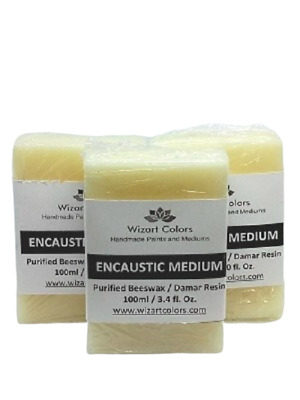 Encaustic Medium Economy Pack made of beeswax and best damar resin