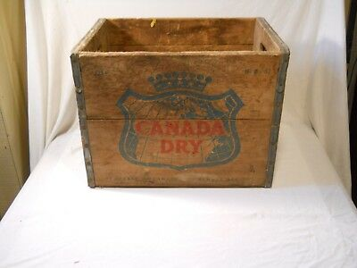 Vintage Canada Dry Bottling Wooden Crate Box D-8-67
