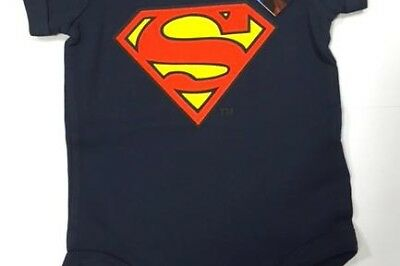 SUPERMAN - Baby Body Logo - Navy (6 Month)