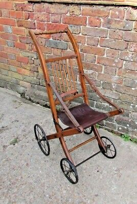 Victorian Ash framed child's push chair C.1880