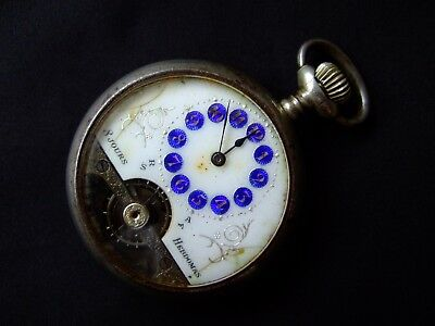 Antique 8 Days Hebdomas Ancre Visible Spiral Breguet Pocket Watch - Working