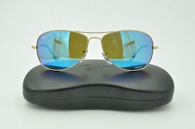 fe0a242a886 Ray Ban RB 3562 Sunglasses 112 A1 Matte Gold   Blue Mirror Polarized 59mm
