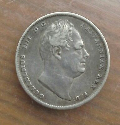 1834 William Iiii Sixpence