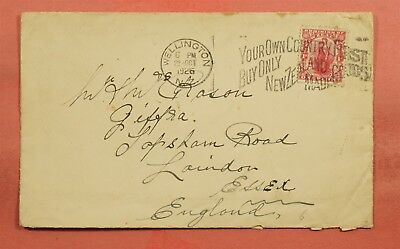 1926 New Zealand Wellington Slogan Cancel To England