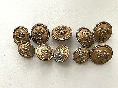 WW2 GERMAN BUTTONS for Kriegsmarine tunic Set of 10 pcs  Orig