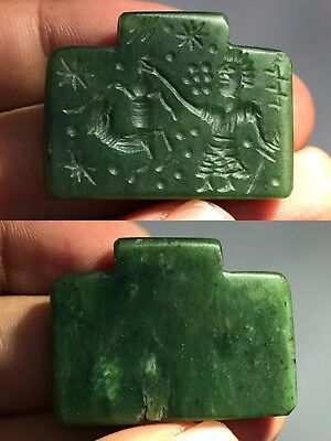 Wonderful Jade Stone Intaglio Medieval Lovely Old Pendant
