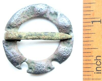 Ancient Old Ornament Bronze Fibula Brooch (AVG01)