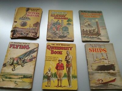 6 Old Broadway Books various topics