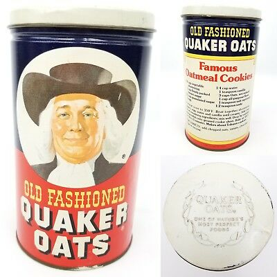 Old Fashioned Quaker Oats Vintage Collectible Recipe Tin Limited Edition 1982