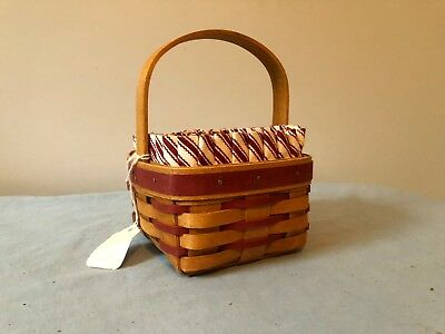 Longaberger small sweetheart sentiments basket with liner and protector