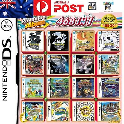 468 Games in 1 NDS Game Pack Card Pokemon Album Cartridge for DS 2DS New 3DS XL