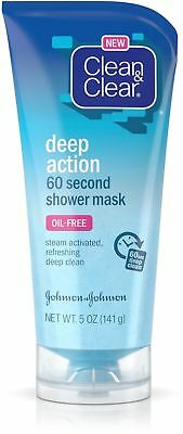 5oz Clean & Clear deep action 60 second shower face mask - exfoliating Oil Free