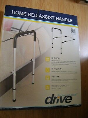Drive Medical Adjustable Height Home Bed Assist Handle Rail BRAND NEW