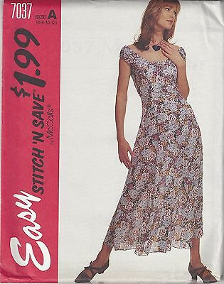 McCalls Sewing Pattern # 7098 Misses Fitted and Flared Dress Choose Size