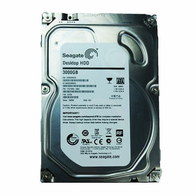 "Seagate 3TB 3.5"" Internal SATA 6GB HDD Hard Drive Desktop 5900RPM 64MB PC NAS"