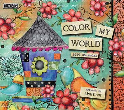 Colour my World 2019 Wall Calendar by Lang, Postage Included
