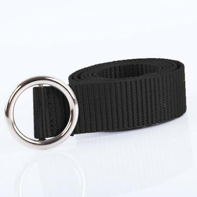 Mens Women Unisex Military Canvas Web Belt  Ring Buckle Casual Waistband Y