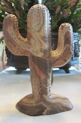 Large cactus figurine, Marble effect, heavy
