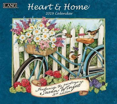 Heart & Home 2019 Wall Calendar by Lang, Postage Included