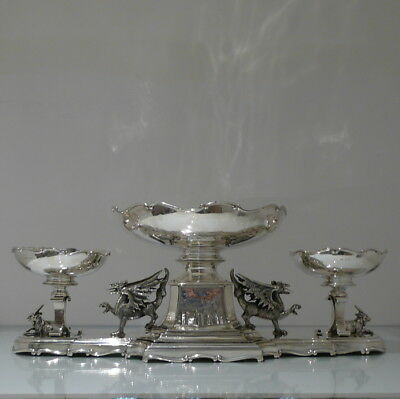 Early 20th Century Antique Edwardian Sterling Silver Large Centrepiece Lon 1906