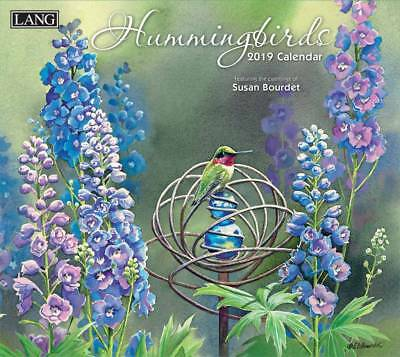 Hummingbirds 2019 Wall Calendar by Lang, Postage Included