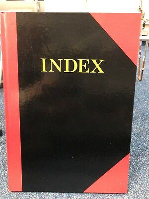 Index Book ruled paper A4 hard cover case bound 100 pages A-Z 10405 RED