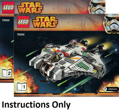Instructions Only Lego Imperial Shuttle 7166 Star Wars Manual Book