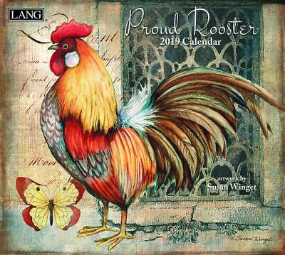 Proud Rooster 2019 Wall Calendar by Lang, Postage Included